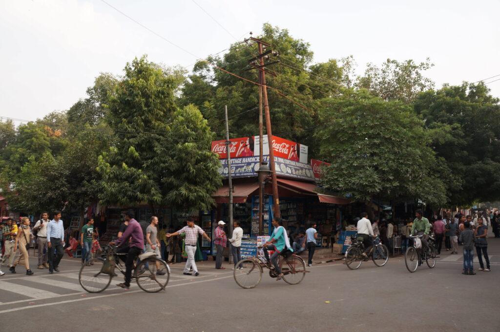Busy Street Agra India