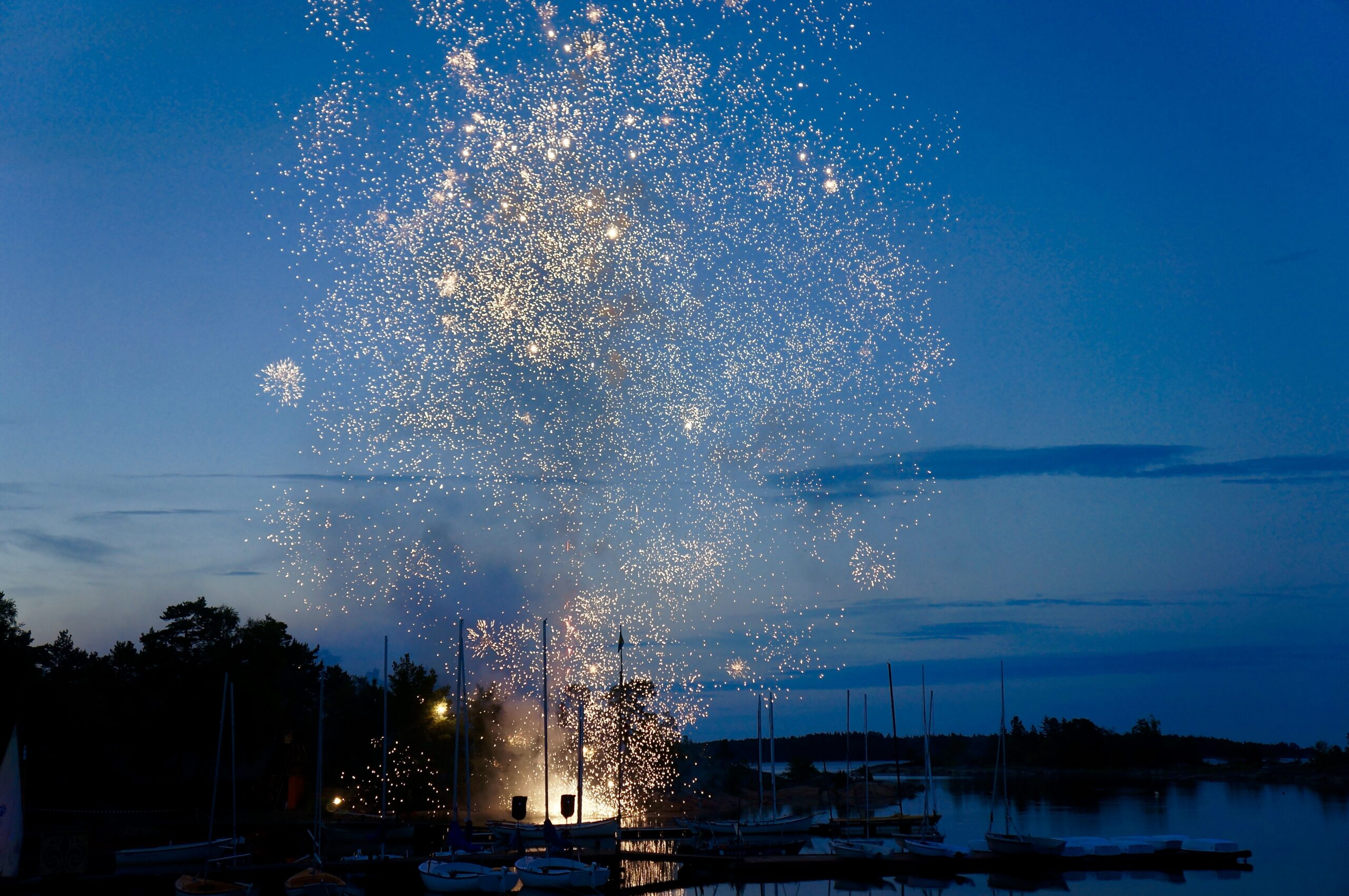 Fireworks Near The Port
